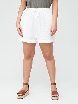 V by Very Curve V By Very Curve Linen Blend Short - White Picture