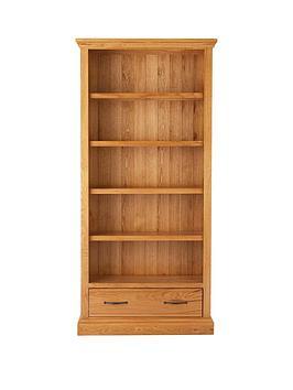kingston-100-solid-wood-ready-assembled-1-drawernbspbookcase