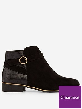 dorothy-perkins-dorothy-perkins-wide-fit-flat-buckle-ankle-boots-black