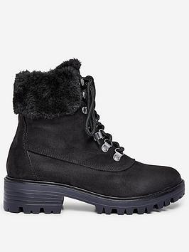 Dorothy Perkins Dorothy Perkins Wide Fit Millie Fur Hiker Style Boots -  ... Picture