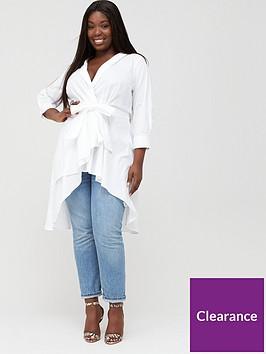 v-by-very-curve-dipped-hem-cotton-shirt-white