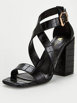 V by Very V By Very Betsy Block Heel Sandal - Black Picture