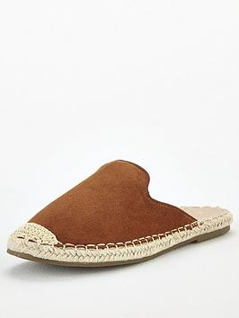 V by Very V By Very Maeve Backless Flat Espadrille - Tan Picture