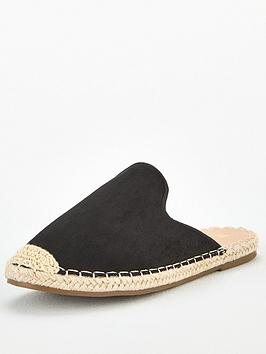 V by Very V By Very Maeve Wide Fit Backless Flat Espadrille - Black Picture