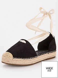 v-by-very-magna-wide-fit-two-part-tie-leg-espadrille-black