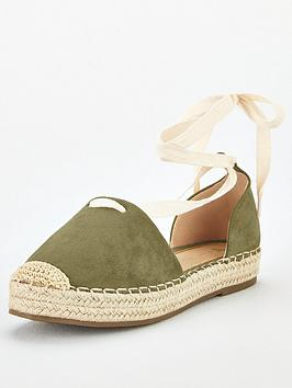 V by Very V By Very Magna Two Part Tie Leg Espadrille - Tan Picture