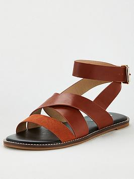 V by Very V By Very Hadley Wide Fit Strappy Sandal - Rust Picture