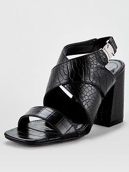 V by Very V By Very Hesla Wide Fit Heeled Hiking Sandals - Black Picture