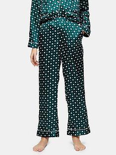 topshop-topshop-tile-print-satin-pyjama-trousers-green