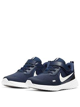 Nike Nike Revolution 5 Younger Childrens Trainers - Navy/White Picture