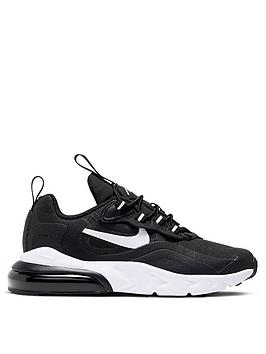 Nike Nike Air Max 270 React Childrens Trainers - Black/White Picture