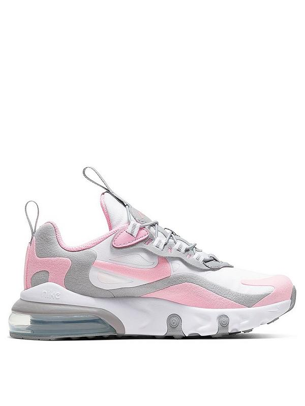 Nike Infant Air Max 270 React Trainer Black White Pink .