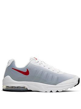 Nike Nike Air Max Invigor Print Junior Trainer - White Red Grey Picture