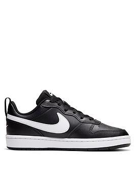 Nike Nike Court Borough Low 2 Junior Trainer - Black/White Picture