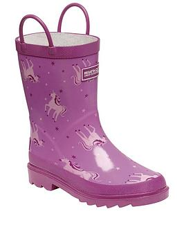 Regatta Regatta Girls Mudplay Junior Unicorn Wellies - Pink Picture