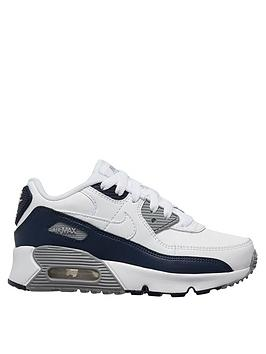 nike-air-max-90-leather-childrens-trainers-white