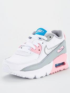nike-air-max-90-leather-childrens-trainers-grey