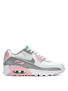 nike-air-max-90-leather-junior-trainers-grey