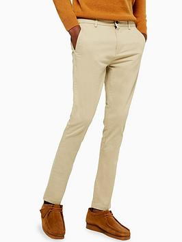 Topman Topman Chino Trousers - Stone Picture