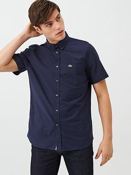 Lacoste Sportswear Lacoste Sportswear Short Sleeved Oxford Shirt - Navy Picture