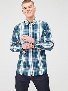 lacoste-sportswear-check-shirt-green
