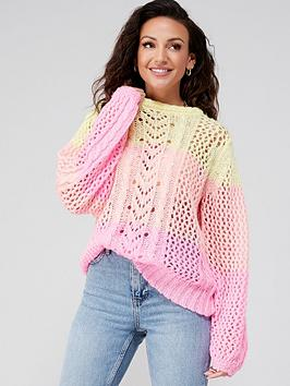 michelle-keegan-ombre-knitted-jumper-multi