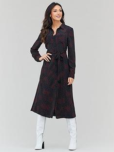michelle-keegan-tie-waist-printed-shirt-dress-print