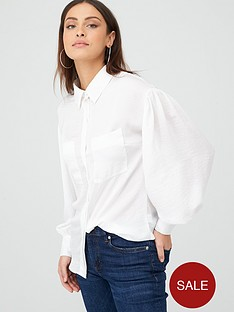 v-by-very-formal-sleeve-detail-button-through-shirt-ivory