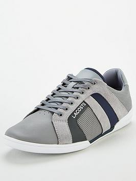 Lacoste Lacoste Chaymon Leather Trainers - Grey Picture