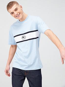 Lacoste Sportswear Lacoste Sportswear Applique Logo Panel T-Shirt - Light  ... Picture