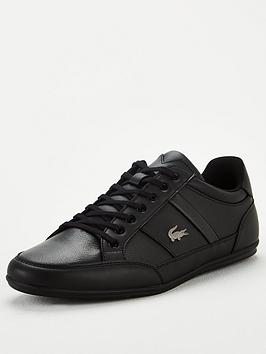 Lacoste Lacoste Chaymon Leather Trainers - Black Picture