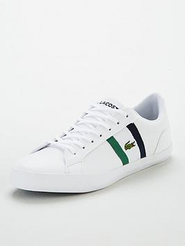 Lacoste Lacoste Lerond Side Stripe Leather Trainers - White Picture