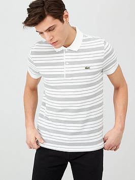 Lacoste Sportswear Lacoste Sportswear Stripe Polo Shirt Picture