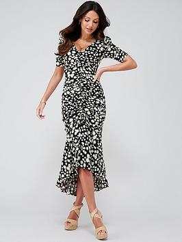 Michelle Keegan Michelle Keegan Ruched Front Fitted Midi Dress - Daisy  ... Picture