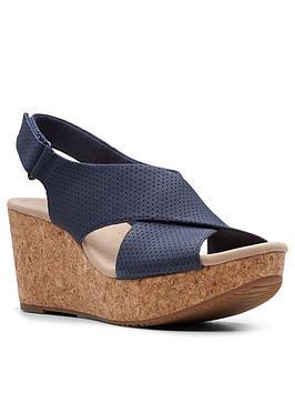 clarks-annadel-parker-leather-platform-cork-wedge-sandal-navy