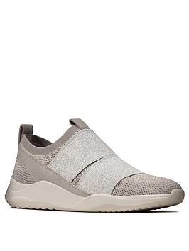 Clarks Clarks Sift Slip Trainer - Silver Picture