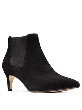 Clarks Clarks Laina55 Leather Kitten Heel Ankle Boot - Black Picture