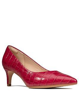 Clarks Clarks Laina55 Leather Mid Heel Court Shoe - Fuchsia Picture