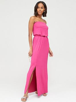 V by Very V By Very Bardot Jersey Maxi Dress - Pink Picture