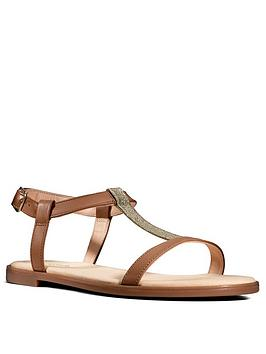 Clarks Clarks Bay Rosa Flat Sandal - Tan Picture
