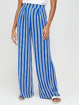 V by Very V By Very Wide Leg Jersey Trousers - Stripe Picture