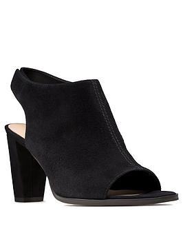 Clarks Clarks Kaylin85 Sling Leather Peep Toe Sandal - Black Picture