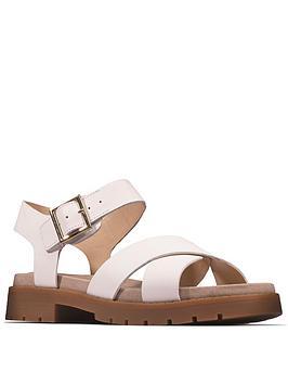 clarks-orinoco-strap-leather-flat-sandal--nbspwhite