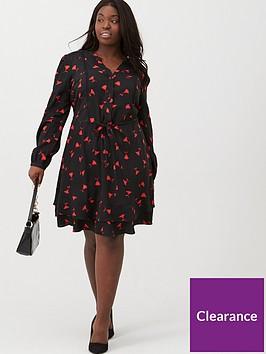 oasis-curve-rose-bud-shirtdress-multi-black
