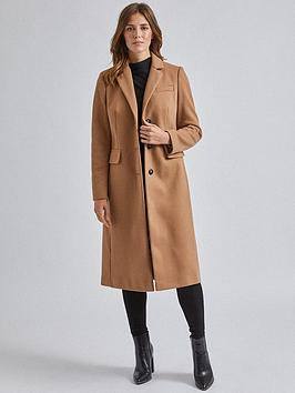 Dorothy Perkins Dorothy Perkins Fitted Coat - Camel Picture