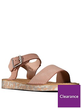 clarks-strap-leather-flat-sandal-light-pink