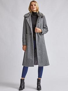 dorothy-perkins-dolly-faux-fur-collar-detail-coat-grey