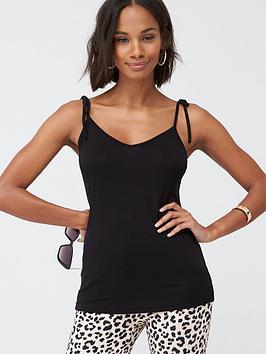 v-by-very-tie-shoulder-jersey-vest-black