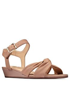 clarks-sense-strap-leather-low-wedge-sandal-beige