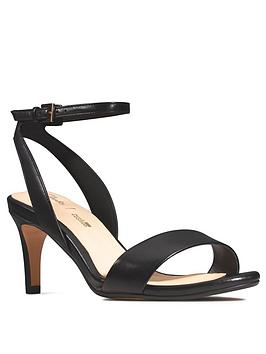 Clarks Clarks Amali Jewel Leather Heeled Sandal - Black Picture
